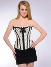 Black White Polka Dot Corset