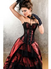 Can Can Black and Red Corset