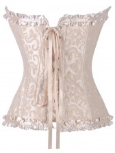 Brocade Corset Ivory With Zipper Front