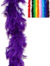 Purple Feather Boa 190cm