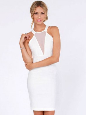 Winter Wonderland Cutout Halter Dress