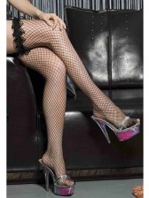 Black Ruffle Fishnet Stocking