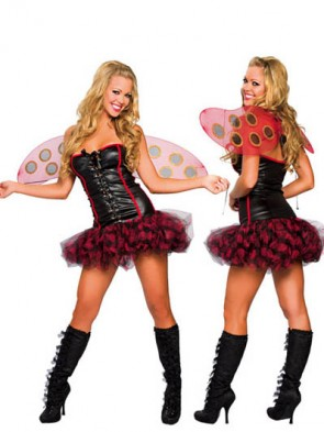 Sexy Lady Bug Costume with Wings