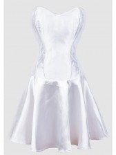 White Wedding Fit and Flare Corset Dress