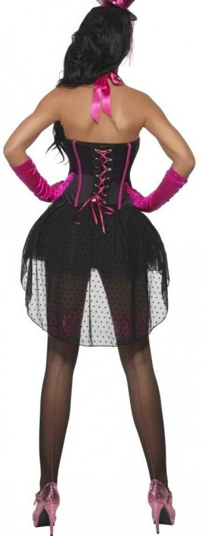 Hot Pink Burlesque Girl Costume