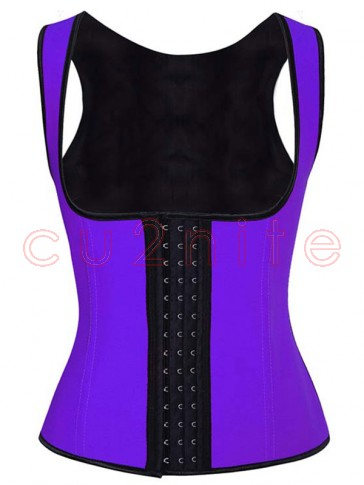 Hot Sale Purple Latex Steel Bone Vest Underbust Corset