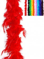 Red Feather Boa 190cm