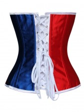France Flag Overbust Corset