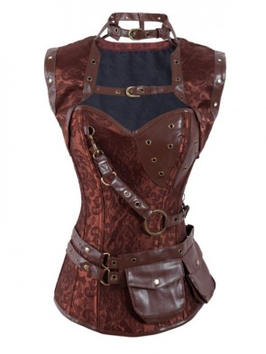 Steampunk High Neck Corset with Jacket