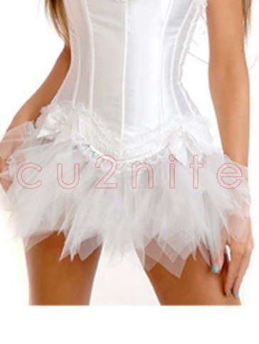 White Mini Tulle Tutu Skirt
