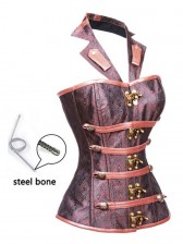 Royalty Vintage Halter Neckline Steel Bone Busk Closure Outerwear Corset
