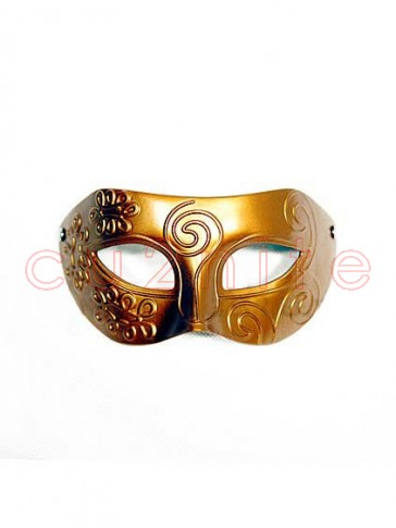 Gold Mens Masquerade Mask