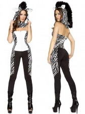 Womens Wild Zebra Costume