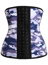 Latex Waist Traning Camouflage Steel Boned Sport Corset Excercise Runing