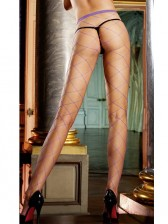 New Arrival! Purple Fence Net Pantyhose