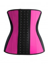 9 Flexi Steel Boned Hot Pink Latex Waist Trainer Waist Training Cincher