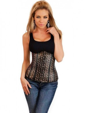Stamped Leather Underbust Corset