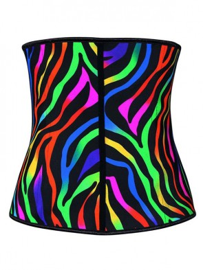 Bizarre Patterns Sports Steel Boned Latex Waist Trainer