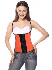 Sports Steel Boned Organge Latex Waist Training Vest