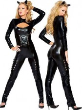 Women's Sexy Queen of Felines Catwoman Costume with Headpiece