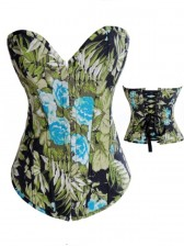 Denim Flower Corset