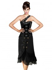 Sexy Steampunk Gothic Corset Skirt Set