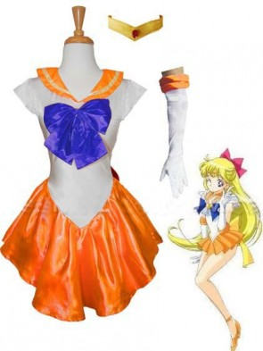 Orange Sailor Venus Costume
