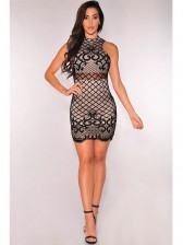 Modern Lace Up Back Casual Bodycon Dress