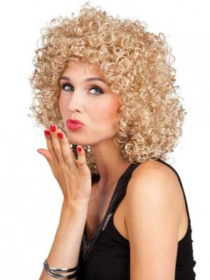 Blonde Curly Disco Fab Wig