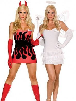 Clearance! Sexy Reversible Angel Devil Costume
