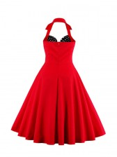 Vintage Sweetheart Halter Holiday Cocktail Party Bridesmaid Dress