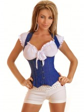 Blue Denim Underbust Corset