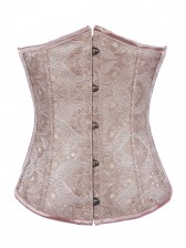 Palace Embossed Pattern Underbust Corset