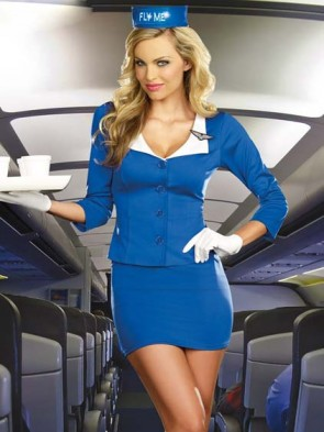 Fly Me Stewardess Costume