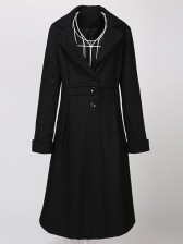 Women's Noble Woolen Long Trench Coat