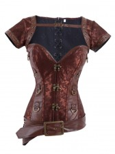 Steampunk Overbust Corset with Jacket & Blet
