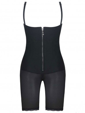 Latex with Powernet Body Shaper Butt Lifter Bodysuit