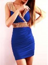 Sequin Blue Mini Dress