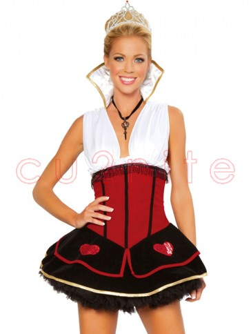 Clearance! Sexy Deluxe Red Queen Costume