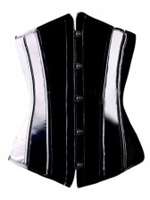 Wetlook PVC Leather Underbust Corset