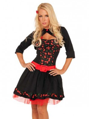 50s Cherry Bomb Rockabilly Costume
