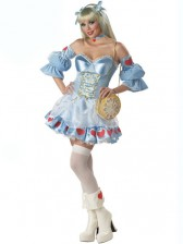 Deluxe Adult Alice in Wonderland Costume w/ Stocking