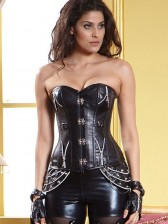 1PC Leather Steampunk Corset