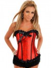 Red Satin Butterfly Corset