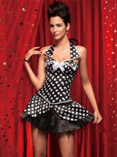 Polka Dot Collar Corset & Skirt