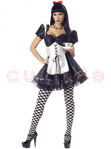 Malice In Wonderland Adult Halloween Costume w/ Stockings