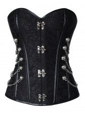 Black Steel Boned Steampunk Corset