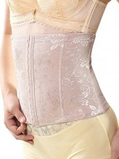 Lace Overlay Waist Training Corset with Bones