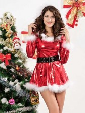 Punky Santa Hoodie Dress with Belt