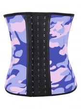 Gorgeous Steel Bone Latex Camouflage Patterns Underbust Corset